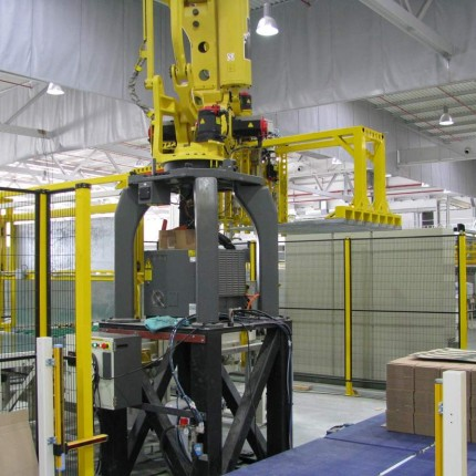 Robotic palletizer for RDC